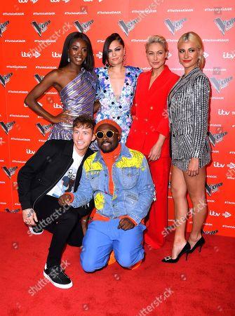 Aj Odudu, Jessie J, Emma Willis, Pixie Lott, Danny Jones and will i am