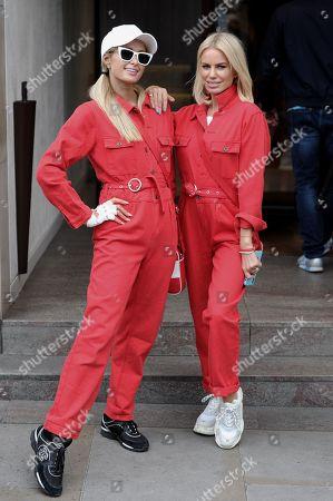 Stock Picture of Paris Hilton and Caroline Stanbury