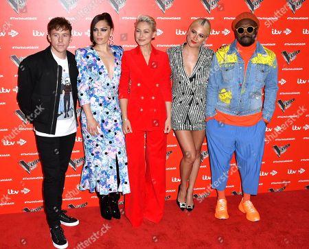 Danny Jones, Jessie J, Emma Willis, Pixie Lott and will i am