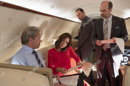 Gary Cole as Kent Davison, Julia Louis-Dreyfus as Selina Meyer, Tony Hale as Gary Walsh and Brian Huskey as Leon West