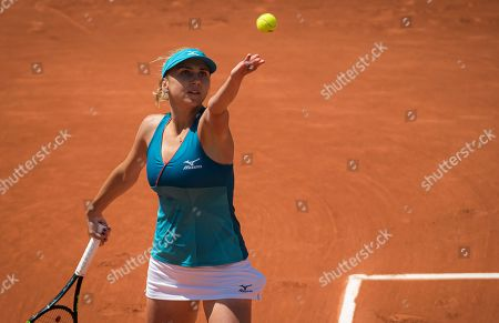 Lyudmyla Kichenok of the Ukraine during their doubles quarter-final match