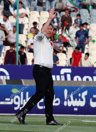 Iran's head coach Marc Wilmots before the friendly soccer match between Iran and Syria at the Azadi stadium in Tehran, Iran, 06 June 2019.