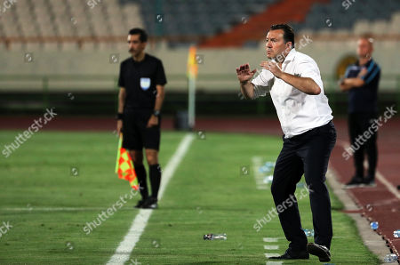 Iran's head coach Marc Wilmots reacts during the International Friendly soccer match between Iran and Syria at the Azadi stadium in Tehran, Iran, 06 June 2019.