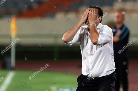 Stock Picture of Iran's head coach Marc Wilmots reacts during the International Friendly soccer match between Iran and Syria at the Azadi stadium in Tehran, Iran, 06 June 2019.