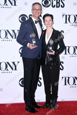 Stock Picture of Nevin Steinberg and Jessica Paz - Best Sound Design of a Musical - 'Hadestown'