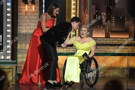 Laura Benanti, Anthony Ramos and Ali Stroker
