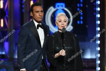 Aasif Mandvi and Shirley Jones