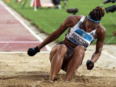 Shara Proctor of Britain competes in the women's Long Jump event of the Golden Gala - Pietro Mennea athletics meeting as part of the IAAF Diamond League at the Olympic stadium in Rome, Italy, 06 June 2019.