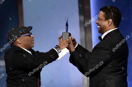 Spike Lee and Denzel Washington