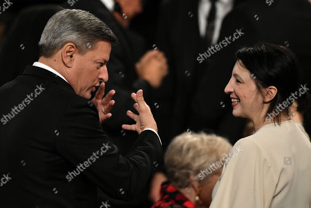 Stock Picture of Ted Sarandos and Elisa Key