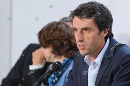 Olympic day and festival of sport press conference, with Tony Estanguet (President of Paris 2024), Roxana Maracineanu (French minister of Sports), Emmanuel GrŽgoire (First deputy of Anne Hidalgo the maire of Paris city) and Denis Masseglia (President of CNOSF) - June, 5th, 2019, FFT Museum, Roland Garros//LOUVETBASTIEN_1730.8450/1906051746/Credit:BASTIEN LOUVET/SIPA/1906051750