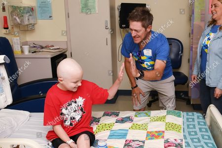 Kevin Rahm and a Children's Mercy Hospital patient