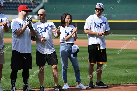 David Cook, Chris Daughtry, Selena Gomez and Josh Hopkins