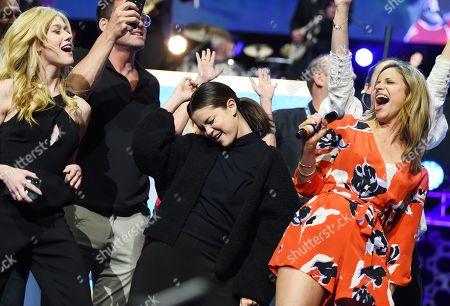 Katherine McNamara, Selena Gomez and Andrea Savage