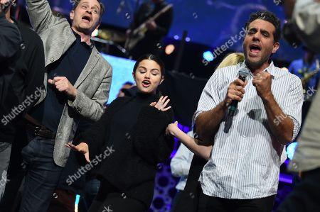 Kevin Rahm, Selena Gomez and Bobby Cannavale