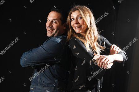 Seth Herzog and Sarah Chalke