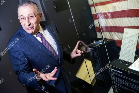 Founder and Dean of the Simon Wiesenthal Center, Rabbi Marvin Hier shows a letter of Dwight D. Eisenhower, 34th US President, to his wife written on the eve of D-Day and displayed at the Museum of Tolerance in Los Angeles, California, USA, 06 June 2019. This letter reads 'Darling, Starting tomorrow I have a series of trips that will last without interruption from six to ten days. So if you have a lapse in arriving letters, don't jump at the conclusion that I don't want to write - I'll simply have no opportunity to pick up a pen. I'm a bit stymied in my mind as to subject to write about. So many things are taboo - and the individual with whom you are acquainted (including myself) go along in accustomed ways. Mikey is a jewell. I often wonder how I existed without him. Anyway the real purpose of this note was to say I'm well, and love you as much as ever, all the time, day and night. Your picture (in a gilt frame) is directly in my bed room. Loads of love - always. Yours Ike.