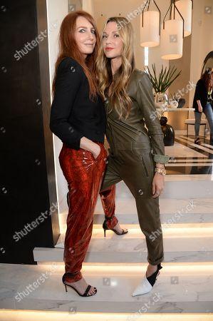 Stock Photo of Angela Radcliffe and Caroline Sciamma-Massenet
