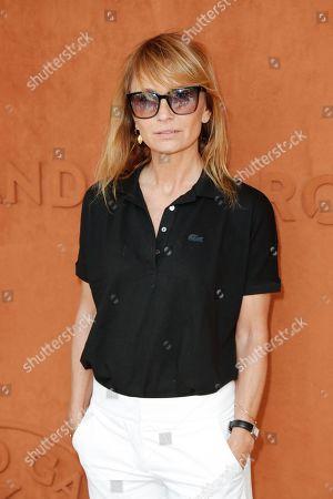 Axelle Laffont at 'Le Village' of Roland Garros stadium