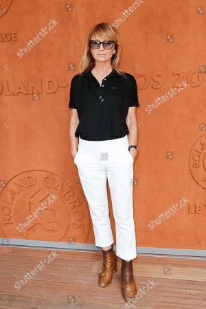 Stock Photo of Axelle Laffont at 'Le Village' of Roland Garros stadium