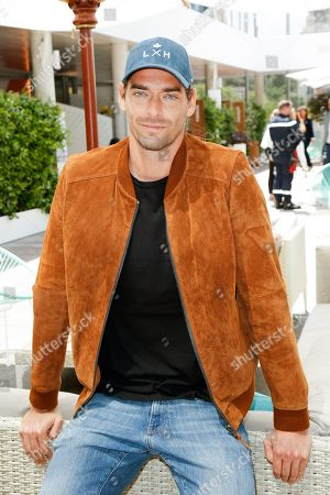 Camille Lacourt at 'Le Village' of Roland Garros stadium