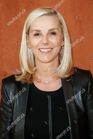 Stock Picture of Laurence Ferrari at 'Le Village' of Roland Garros stadium