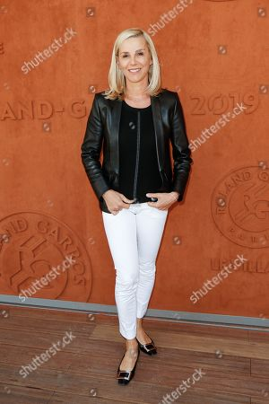 Laurence Ferrari at 'Le Village' of Roland Garros stadium
