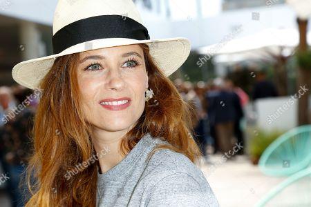Melanie Bernier at 'Le Village' of Roland Garros stadium