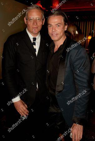 Giles Deacon (L) and Marcus Piggott