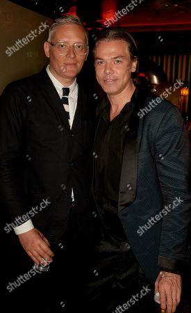 Stock Photo of Giles Deacon (L) and Marcus Piggott
