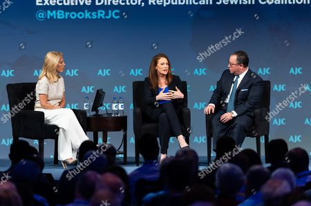 Dana Bash, CNN Chief Political Correspondent and discussion moderator, Halie Soifer, Executive Director, Jewish Democratic Council of America and Matthew Brooks, Executive Director, Republican Jewish Coalition, speak about 'Do American Jews Have a Political Home?'