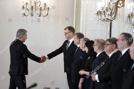 Editorial photo of Old government of Finland visits Presidential Palace, Helsinki, Finland - 06 Jun 2019