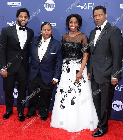 Denzel Washington and wife Pauletta Washington and Kids