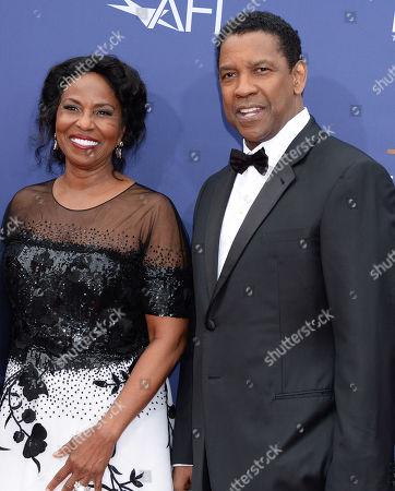 Denzel Washington and wife Pauletta Washington