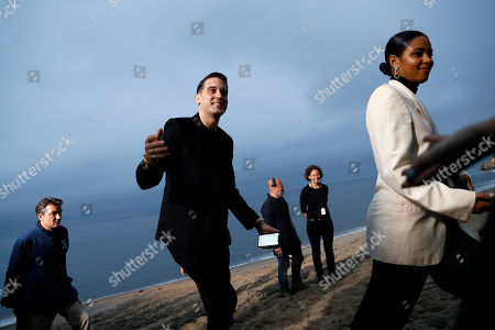 US rapper G-Eazy (C) arrives to attend the Spring/Summer 2020 Menswear collection show by Belgian designer Anthony Vaccarello for Saint Laurent Paris fashion house in Malibu, California, USA, 06 June 2019.