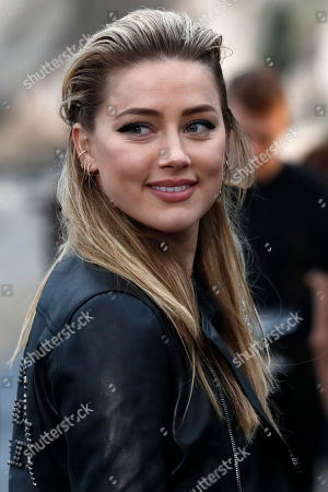 US actress Amber Heard arrives to attend the Spring/Summer 2020 Menswear collection show by Belgian designer Anthony Vaccarello for Saint Laurent Paris fashion house in Malibu, California, USA, 06 June 2019.