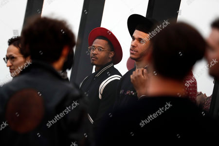 Guests arrive to attend the Spring/Summer 2020 Menswear collection show by Belgian designer Anthony Vaccarello for Saint Laurent Paris fashion house, in Malibu, California, USA, 06 June 2020.
