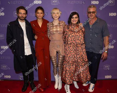 Sam Levinson, Zendaya, Eric Dane, Hunter Schafer and Barbie Ferreira
