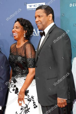 Pauletta Washington and her husband US actor Denzel Washington arrive for the 47th AFI Life Achievement Award honoring Denzel Washington at the Dolby Theatre in Hollywood, Los Angeles, California, USA, 06 June 2019. The AFI Life Achievement Award is the highest honor given for a career in film.