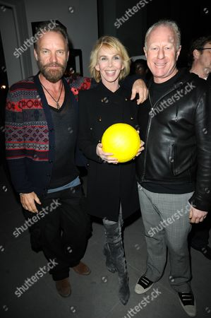 Sting, Trudie Styler and Bobby Sager