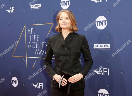 Jodie Foster arrives for the 47th AFI Life Achievement Award honoring Denzel Washington at the Dolby Theatre in Hollywood, Los Angeles, California, USA 06 June 2019. The AFI Life Achievement Award is the highest honor given for a career in film.