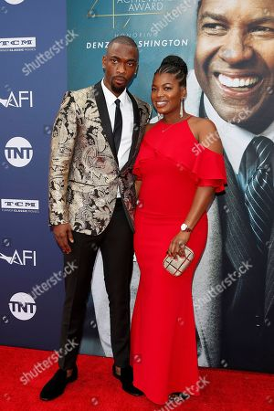 Jay Pharoah (L) and wife singer Shaina Farrow arrive for the 47th AFI Life Achievement Award honoring Denzel Washington at the Dolby Theatre in Hollywood, Los Angeles, California, USA 06 June 2019. The AFI Life Achievement Award is the highest honor given for a career in film.
