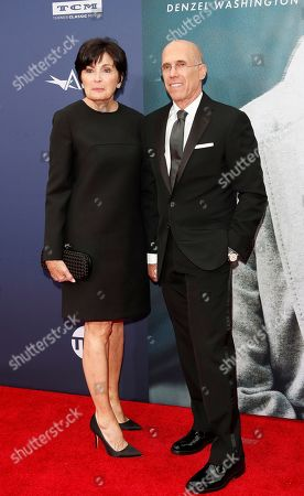 Jeffrey Katzenberg (R) and wife Marilyn Katzenberg arrive for the 47th AFI Life Achievement Award honoring Denzel Washington at the Dolby Theatre in Hollywood, Los Angeles, California, USA 06 June 2019. The AFI Life Achievement Award is the highest honor given for a career in film.