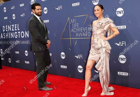 Stock Image of Cara Santana (R) and partner US actor Jesse Metcalfe arrive for the 47th AFI Life Achievement Award honoring Denzel Washington at the Dolby Theatre in Hollywood, Los Angeles, California, USA 06 June 2019. The AFI Life Achievement Award is the highest honor given for a career in film.