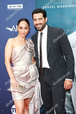 Cara Santana (L) and partner US actor Jesse Metcalfe arrive for the 47th AFI Life Achievement Award honoring Denzel Washington at the Dolby Theatre in Hollywood, Los Angeles, California, USA 06 June 2019. The AFI Life Achievement Award is the highest honor given for a career in film.