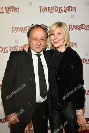 Chantal Ladesou and her husband Michel Ansault