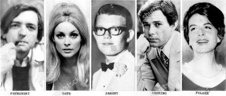 MANSON MURDERS The five victims found slain on August 9, 1969, (Woijech Voytek Frykowski, Sharon Tate, Steven Parent, Jay Sebring, Abigail Folger)
