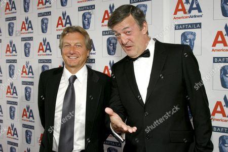 BAFTA/LA Chairman Peter Morris  & Stephen Fry