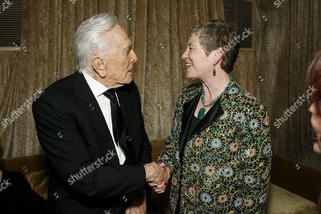 Kirk Douglas and British Consul-General Dame Barbara Hay