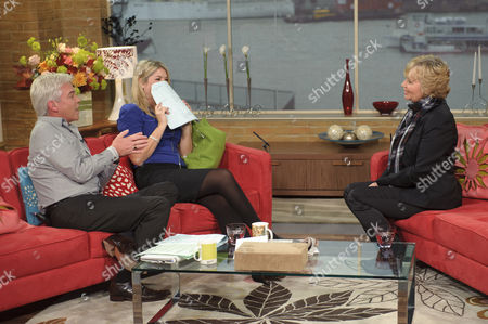 Phillip Schofield, and Holly Willoughby with Susan Penhaligon.